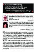 Subactivismo feminista y repertorios de acción colectiva digitales : prácticas ciberfeministas en Twitter